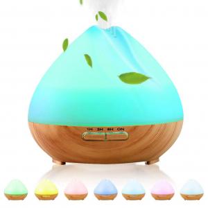 Umidificator Aromaterapie Lampa de veghe SMART Alexa Optimus AT Home™ 1701 cu ultrasunete, 30m², purificator aer, difuzor, rezervor 400ml, light wood TUYA [6]