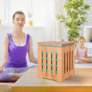 Umidificator Aromaterapie Optimus AT Home™ 1825 rezervor 200ml, cu ultrasunete, 20-25m², purificator aer, difuzor, dark wood [2]