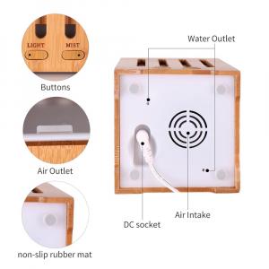 Umidificator Aromaterapie Optimus AT Home™ 1825 rezervor 200ml, cu ultrasunete, 20-25m², purificator aer, difuzor, dark wood [4]