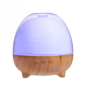 Umidificator Aromaterapie Optimus AT Home™ 1958 cu telecomanda rezervor 600ml, cu ultrasunete, 25-30m², purificator aer, difuzor, light wood [0]