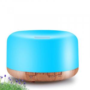 Umidificator cu telecomanda Aromaterapie Lampa de veghe Optimus AT Home™ 1553  rezervor 1000ml, cu ultrasunete, 30-40m², purificator aer, difuzor, light wood base [4]