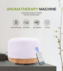 Umidificator cu telecomanda Aromaterapie Lampa de veghe Optimus AT Home™ 1553  rezervor 1000ml, cu ultrasunete, 30-40m², purificator aer, difuzor, light wood base [1]