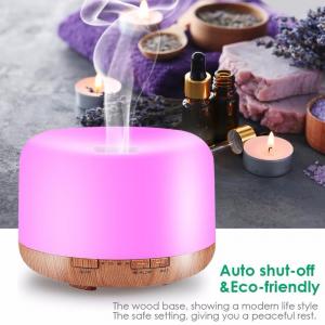Umidificator cu telecomanda Aromaterapie Lampa de veghe Optimus AT Home™ 1553  rezervor 1000ml, cu ultrasunete, 30-40m², purificator aer, difuzor, light wood base [9]