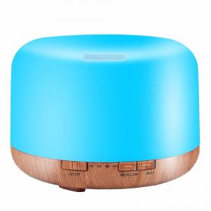 Umidificator cu telecomanda Aromaterapie Lampa de veghe Optimus AT Home™ 1553  rezervor 1000ml, cu ultrasunete, 30-40m², purificator aer, difuzor, light wood base [2]