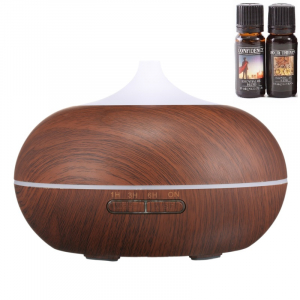 Umidificator Optimus AT Home™ 1704 cu ultrasunete, aromaterapie, 25-30m², purificator aer, difuzor, rezervor 300ml, dark wood [0]