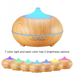 Umidificator Optimus AT Home™ 1704 cu ultrasunete, aromaterapie, 25-30m², purificator aer, difuzor, rezervor 300ml, light wood [5]
