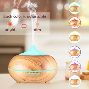 Umidificator Optimus AT Home™ 1704 cu ultrasunete, aromaterapie, 25-30m², purificator aer, difuzor, rezervor 300ml, light wood [2]