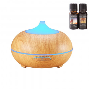 Umidificator Optimus AT Home™ 1704 cu ultrasunete, aromaterapie, 25-30m², purificator aer, difuzor, rezervor 300ml, light wood [0]