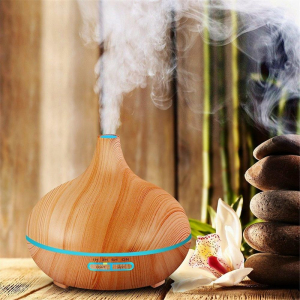 Umidificator Optimus AT Home™ 1705 cu ultrasunete, aromaterapie, 25-30m², purificator aer, difuzor, rezervor 300ml, light wood [3]