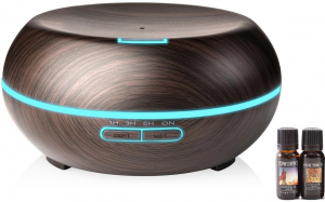 Umidificator Optimus AT Home™ 1721 cu ultrasunete, aromaterapie, 20-25m², purificator aer, difuzor, rezervor 200ml dark wood [0]