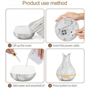 Umidificator Optimus AT Home™ 1740 cu ultrasunete, aromaterapie, 20-40m², purificator aer, difuzor, rezervor 400ml marble [4]
