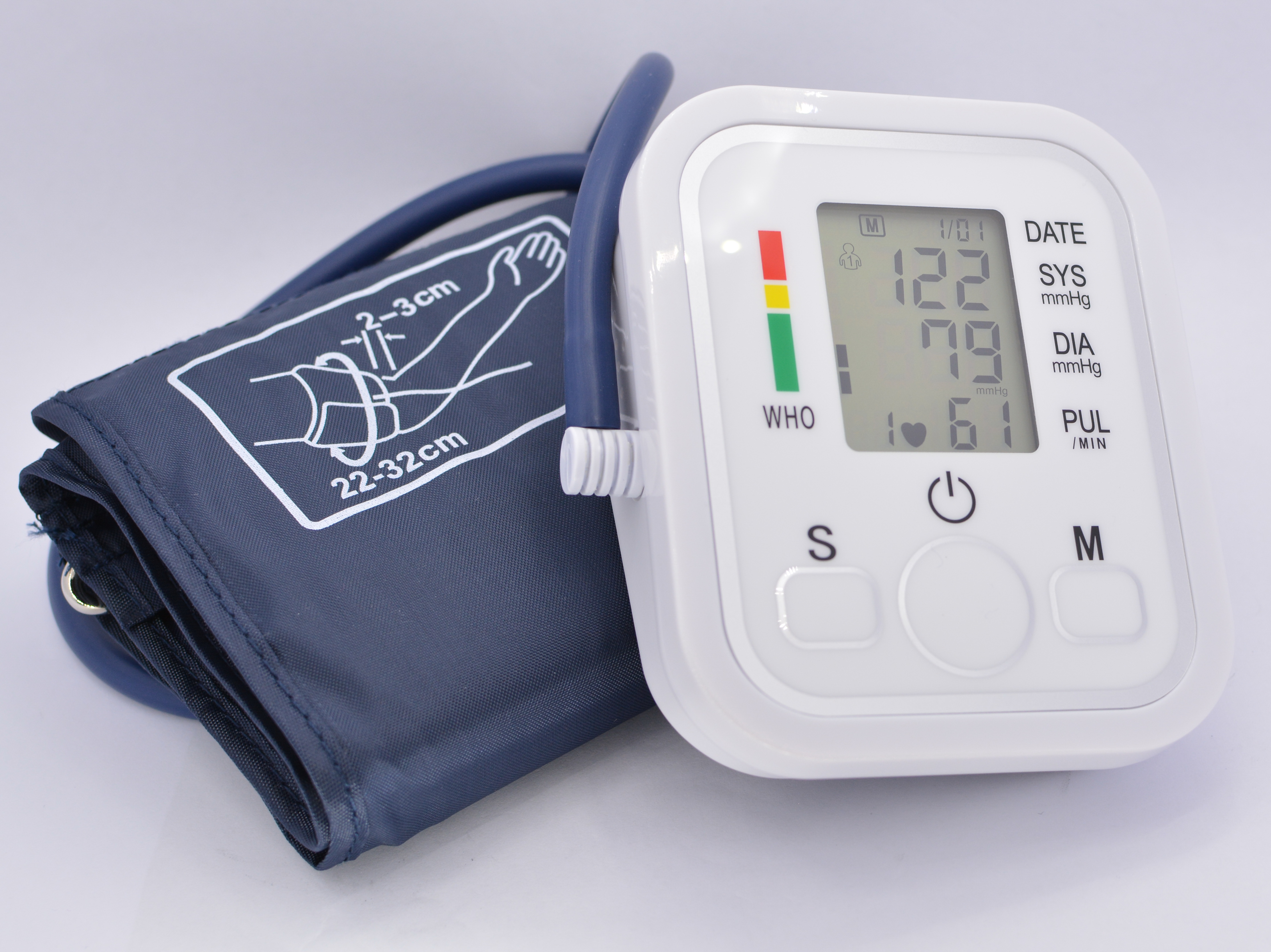 Tensiometru de brat Optimus AT RZ202 automat, oscilometric, manseta 22-32 cm, alimentare la priza / baterii 4xAAA, 2 utilizatori x 99 memorii, 40-280 mmHg, 40-199 bpm [0]
