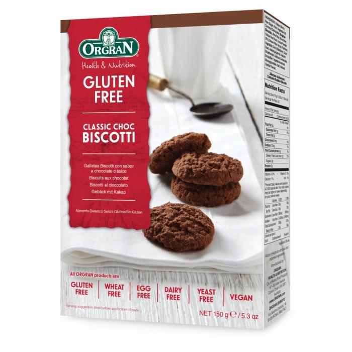 Orgran - Biscotti cu ciocolata clasici x 150g [0]