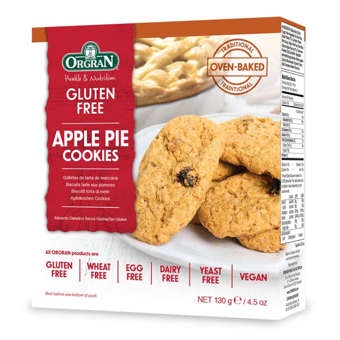 Orgran – Biscuiti placintele cu mere x 130g 0