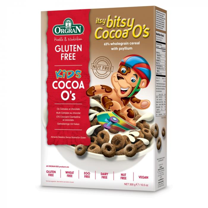 Orgran - Cerculete cu cacao Itsy Bitsy COCOA O'S x 300g [0]