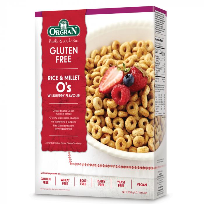 Orgran – Cereale din orez si mei cu aroma de fructe de padure x 300g [0]
