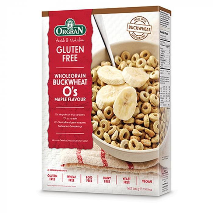 Orgran - Cereale integale din hrisca cu aroma de artar fara gluten si alergeni x 300g 0