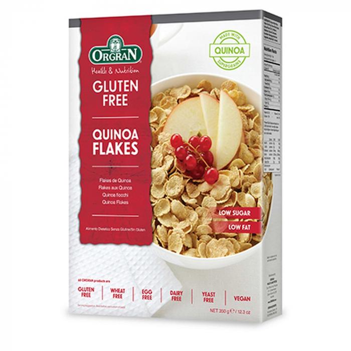Orgran - Fulgi cu quinoa fara gluten si alergeni x 350g 0