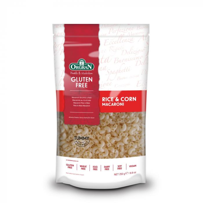 Orgran - Macaroane din orez si porumb fara gluten si alergeni x 250g [0]