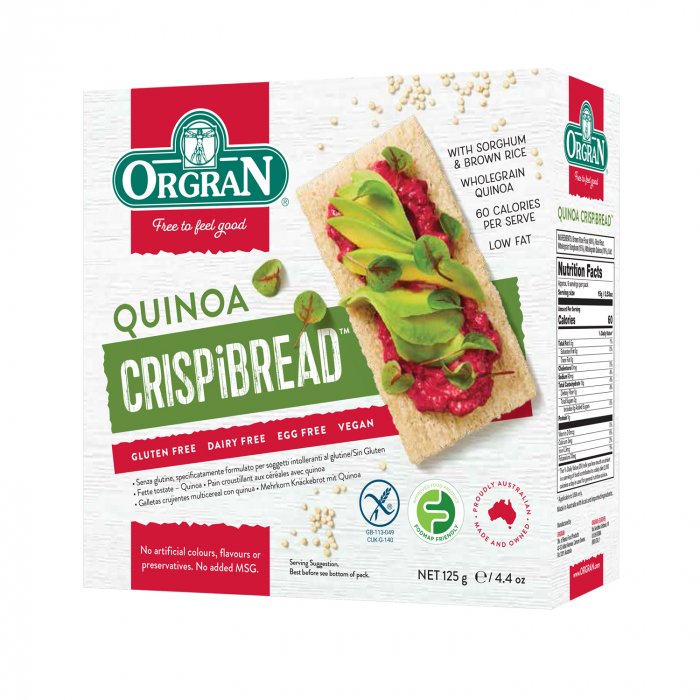 Orgran - Paine uscata multicereale cu quinoa fara gluten si alergeni x 125g [0]