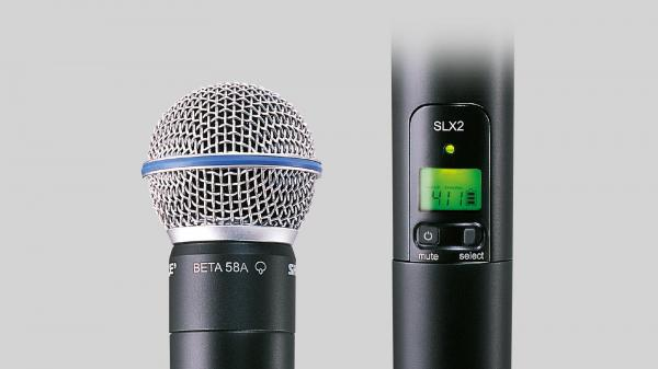 Microfon profesional wireless Shure SLX2/BETA58=-G4E transmitter 1