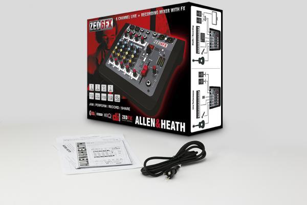 Mixer Analogic Allen & Heath ZED6 FX, 6 canale cu efect incorporat 1