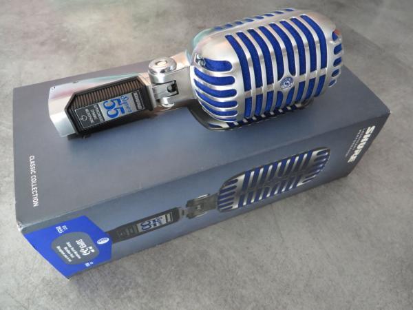 Microfon profesional  Shure SUPER 55 Deluxe cu design clasic 1