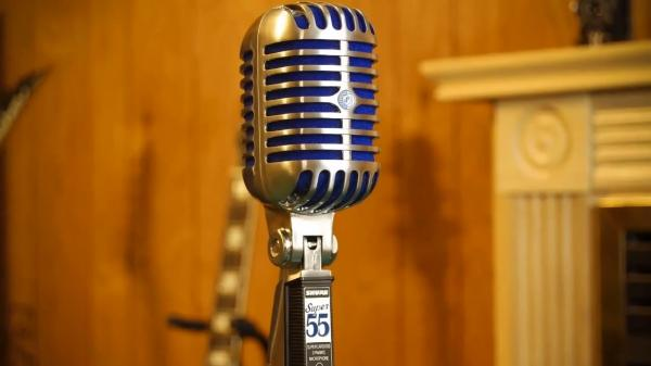 Microfon profesional  Shure SUPER 55 Deluxe cu design clasic 3