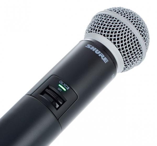 Microfon profesional original Shure GLXD24R/SM58, transmitter si receiver 3