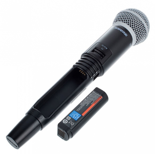 Microfon profesional original Shure GLXD24R/SM58, transmitter si receiver 6