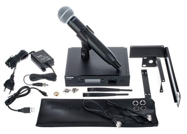 Microfon profesional original Shure GLXD24R/SM58, transmitter si receiver 2
