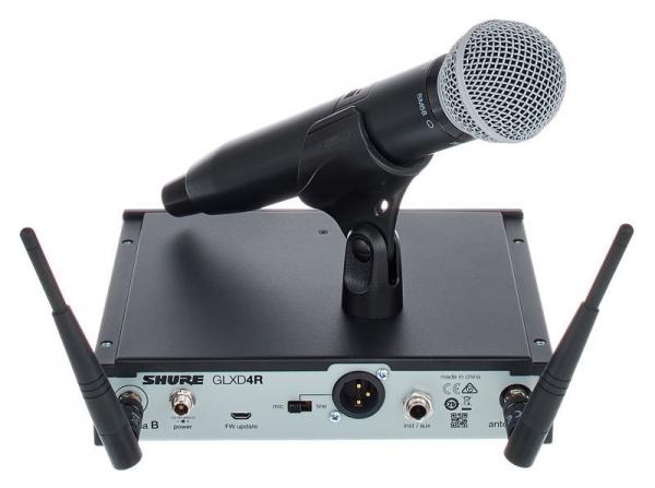 Microfon profesional original Shure GLXD24R/SM58, transmitter si receiver 0