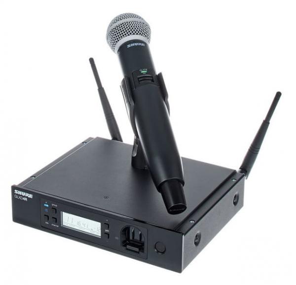Microfon profesional original Shure GLXD24R/SM58, transmitter si receiver 1