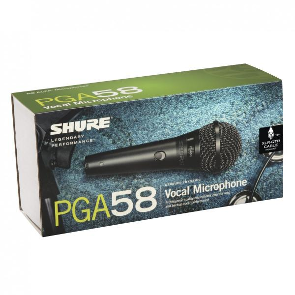 Microfon profesional dinamic cu fir Shure PGA 58, cardioid 3