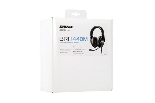 Casti profesionale cu microfon dinamic Shure BRH440M, design circumaural 3