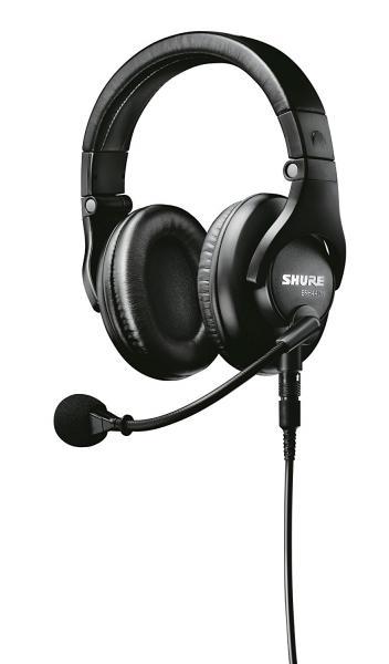 Casti profesionale cu microfon dinamic Shure BRH440M, design circumaural 4