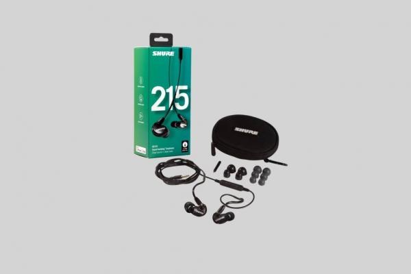 Casti profesionale in-ear Shure SE215-K-UNI-EFS, cu microfon, super izolare fonica, black 3