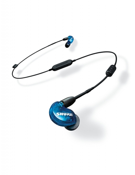 Casti profesionale in-ear Shure SE215SPE-B-BT1-EFS, Special Edition, Bluetooth, Wireless, cu super izolare fonica, albastru 4
