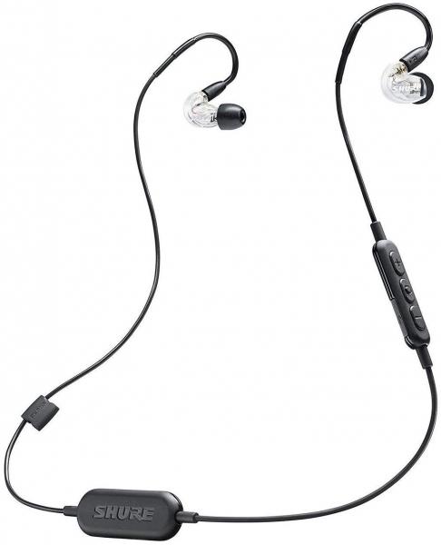 Casti profesionale in-ear Shure SE215-CL-BT1-EFS,  Bluetooth, Wireless, cu super izolare fonica, transparent 6