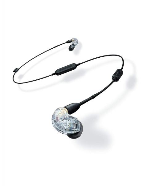 Casti profesionale in-ear Shure SE215-CL-BT1-EFS,  Bluetooth, Wireless, cu super izolare fonica, transparent [0]