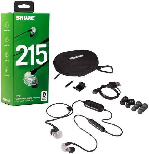 Casti profesionale in-ear Shure SE215-CL-BT1-EFS,  Bluetooth, Wireless, cu super izolare fonica, transparent 5