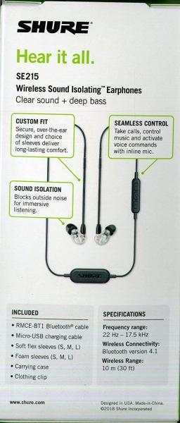 Casti profesionale in-ear Shure SE215-CL-BT1-EFS,  Bluetooth, Wireless, cu super izolare fonica, transparent 3