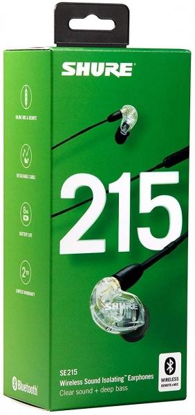 Casti profesionale in-ear Shure SE215-CL-BT1-EFS,  Bluetooth, Wireless, cu super izolare fonica, transparent 4