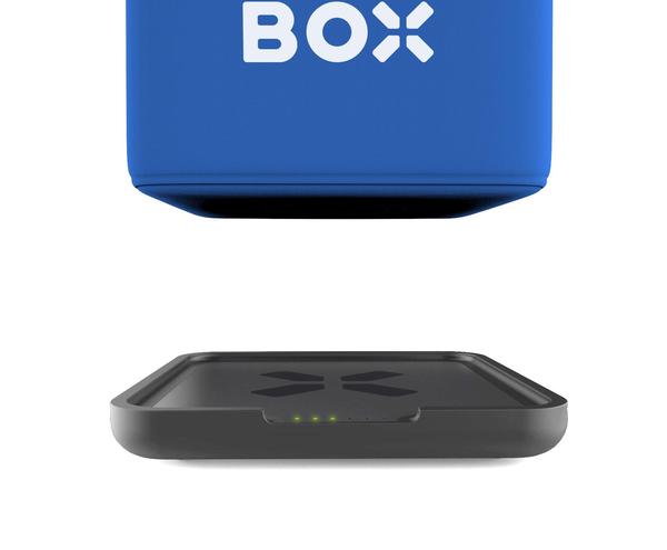 Microfon wireless CatchBox Plus, pentru conferinte de 1000 persoane, culoare albastra 3