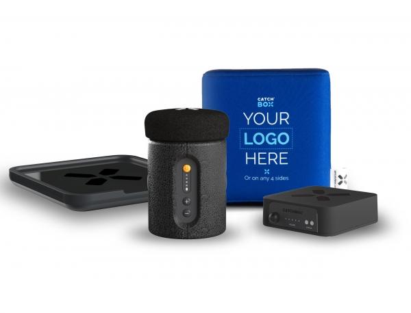 Microfon wireless CatchBox Plus, pentru conferinte de 1000 persoane, culoare albastra 2