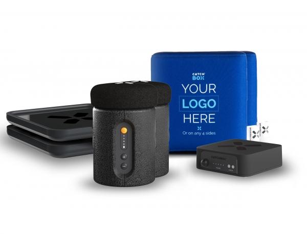 Microfon wireless CatchBox Plus, pentru conferinte de 1000 persoane, culoare albastra 0