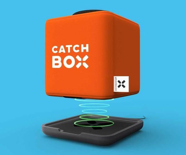 Microfon wireless CatchBox Plus, pentru conferinte de 1000 persoane, culoare orange 1