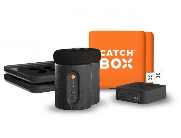 Microfon wireless CatchBox Plus, pentru conferinte de 1000 persoane, culoare orange 0