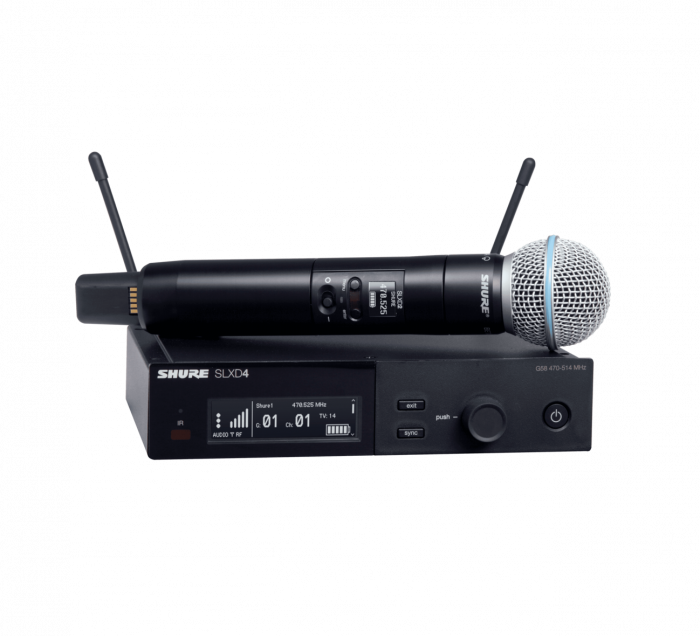 Microfon wireless Shure SLXD24/B58, original, receiver si microfon 0