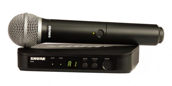 Sistem profesional wireless original Shure BLX24/PG58, microfon si receiver [0]